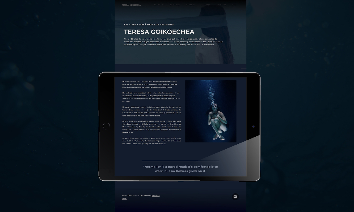 WordPress Portfolio, Teresa Goiko | Judit Civit Studio, Digital Servicies Barcelona